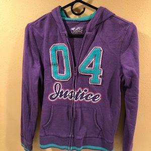 Justice hoodie.